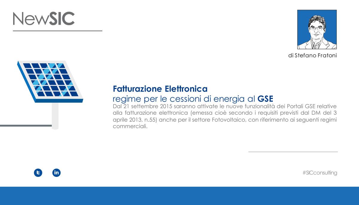 Fatturazione Elettronica - GSE